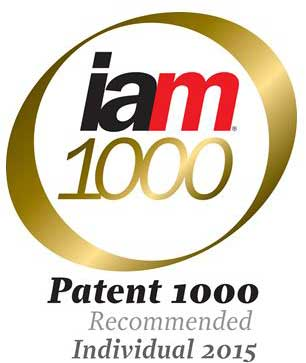 Image:  IAM Patent 1000 Recommended Individual 2015